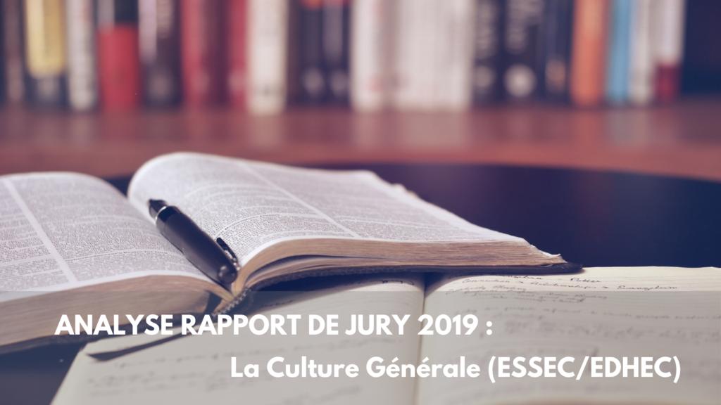 ANALYSE RAPPORT DE JURY 2019 _