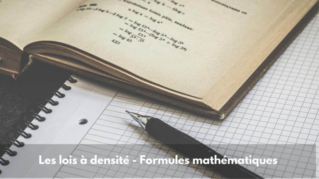 Les lois à densité – Formules mathématiques