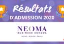 Résultats d'admission NEOMA BS 2020