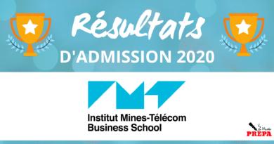 Résultats d'admission IMT-BS 2020