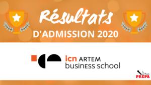Résultats d'admission ICN BS 2020