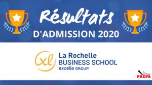 Résultats d'admission La Rochelle BS 2020