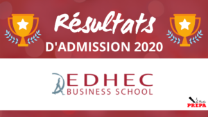 Résultats d'admission EDHEC BS 2020