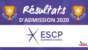 Résultats d'admission ESCP BS 2020