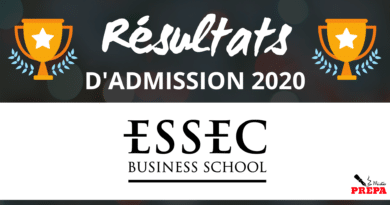 Résultats d'admission ESSEC BS 2020
