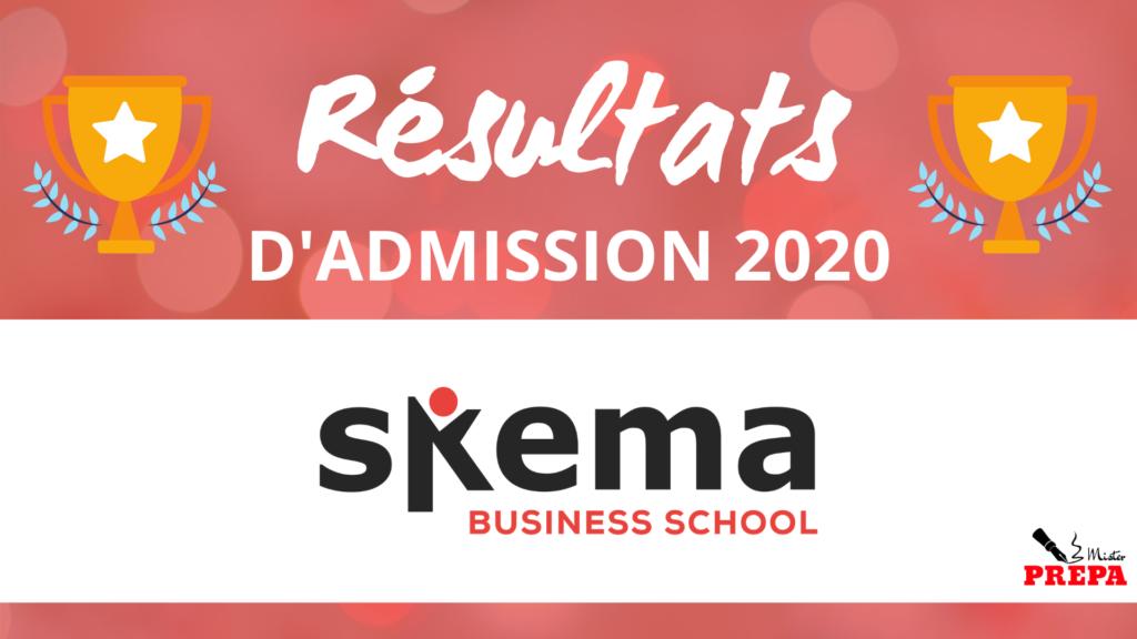 Résultats d'admission SKEMA BS 2020