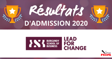 Résultats d'admission Burgundy SB 2020