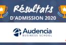 Résultats d'admission Audencia BS 2020