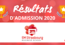 Résultats d'admission EM Strasbourg 2020