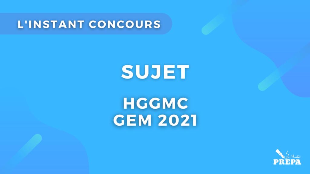 Géopo GEM 2021 concours prépa ECS