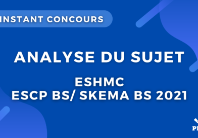 ESH ESCP/ SKEMA 2021 – Analyse du sujet