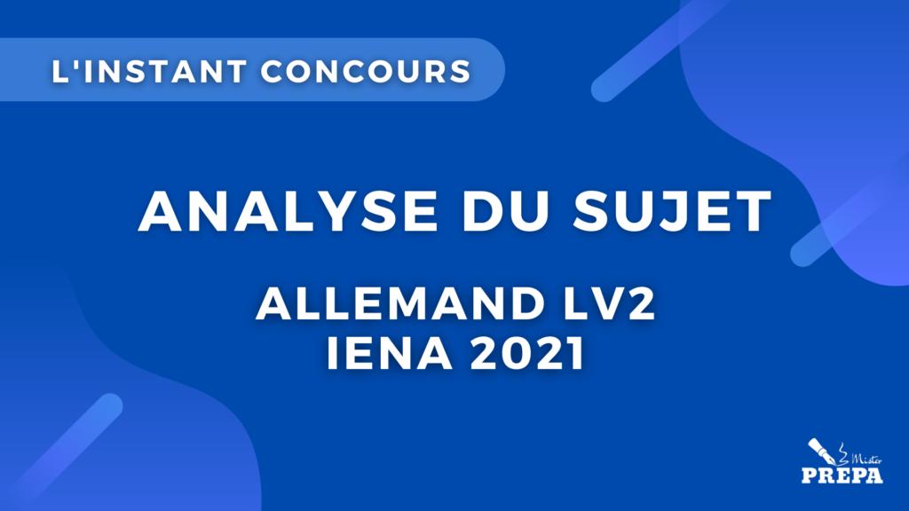 allemand concours 2021 sujet IENA