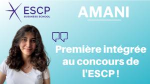 Les conseils d'Amani – Première intégrée à l'ESCP