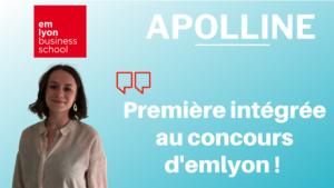 Les conseils d'Apolline – Première intégrée à l'emlyon !