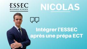 Nicolas – Intégrer l'ESSEC après une prépa ECT