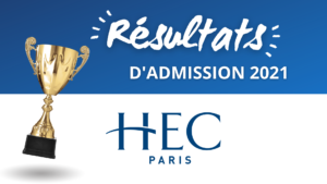 Résultats admission HEC 2021