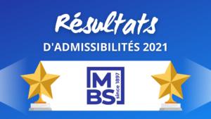 Résultats admissibilités MBS 2021