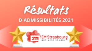 Résultats admissibilités EM Strasbourg 2021