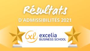 Résultats admissibilités Excelia 2021