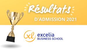 Résultats admission Excelia BS 2021