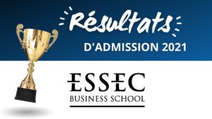 Résultats admission ESSEC 2021