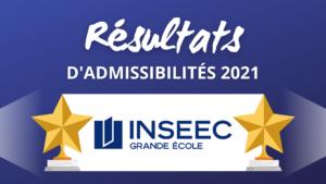 Résultats admissibilités INSEEC 2021
