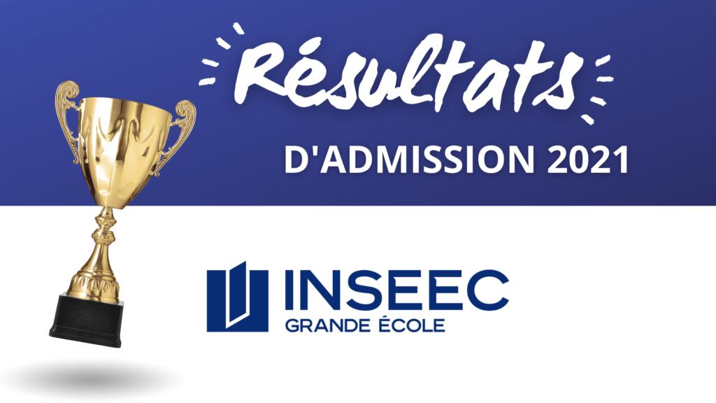 Résultats admission INSEEC 2021