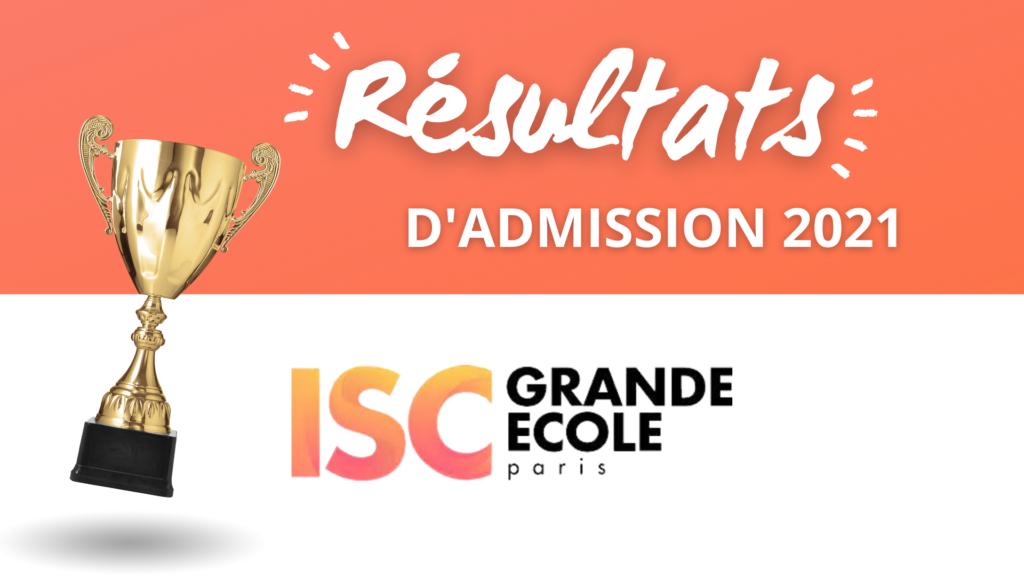 Résultats admission ISC Paris 2021