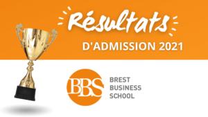 Résultats admission Brest BS 2021