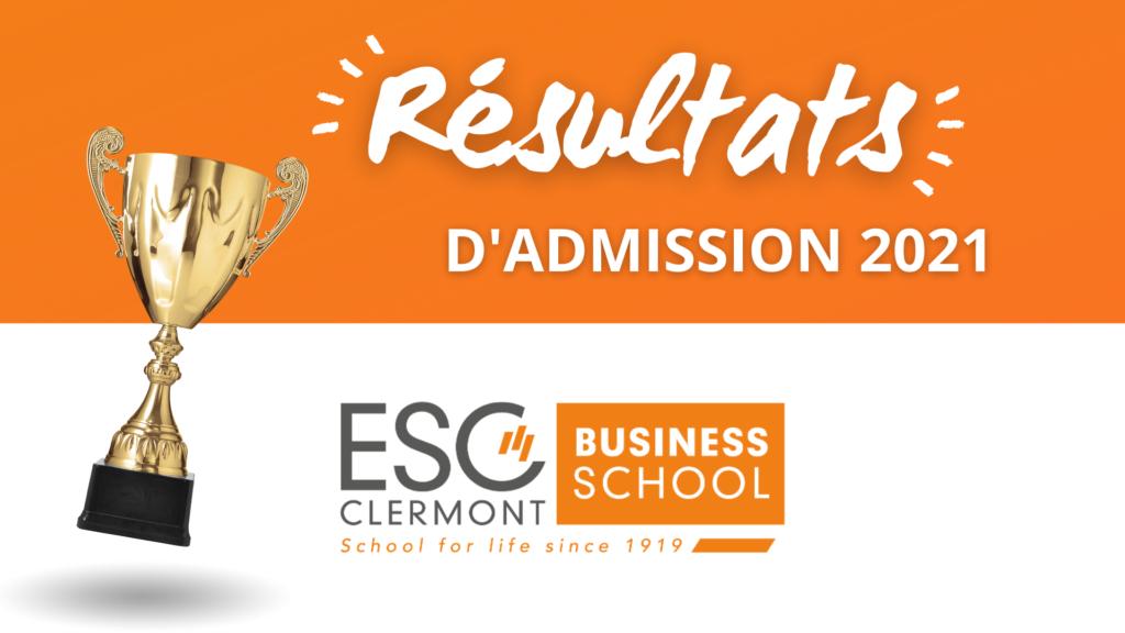 résultats admission ESC Clermont