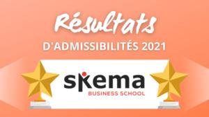 Résultats admissibilités Skema 2021