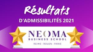 Résultats admissibilités NEOMA 2021