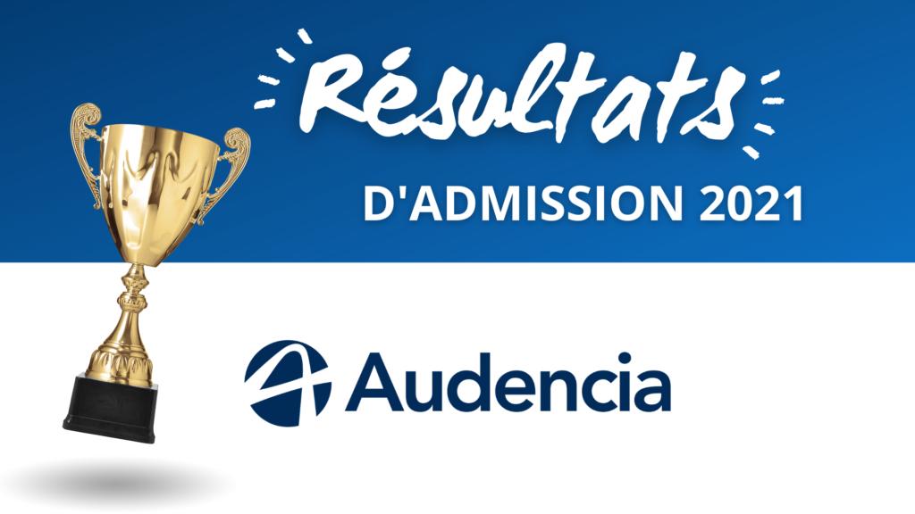 résultats admission audencia