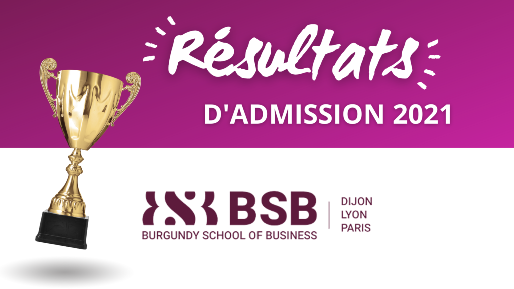 Résultats admission BSB 2021