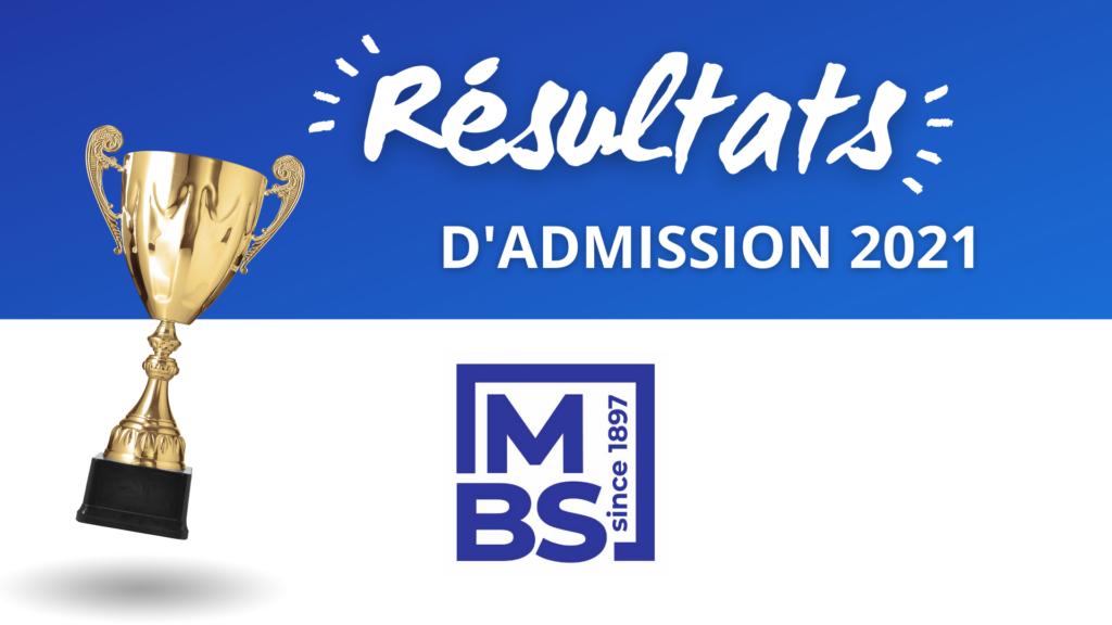 résultats admission mbs