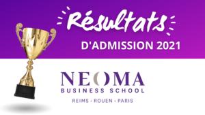 Résultats admission NEOMA 2021