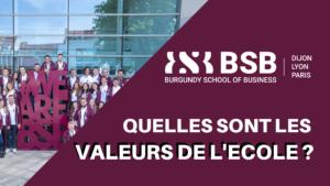 BSB – Quelles sont les VALEURS DE L'ECOLE ?