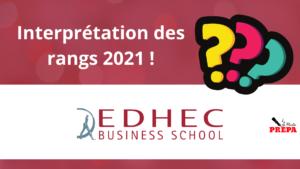 Comment interpréter son rang 2021 à l'EDHEC BS ?