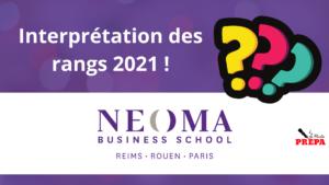 Comment interpréter son rang 2021 à NEOMA BS ?
