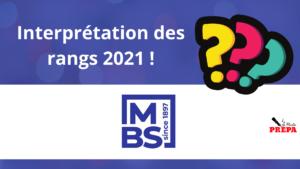Comment interpréter son rang 2021 à MBS ?