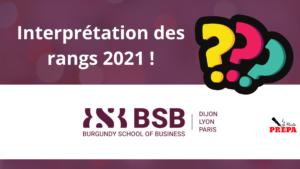 Comment interpréter son rang 2021 à BSB ?