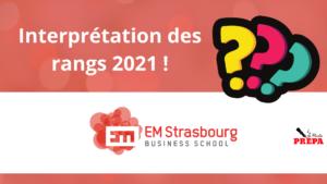 Comment interpréter son rang 2021 à l'EM Strasbourg ?