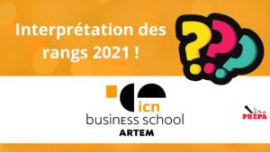 Comment interpréter son rang 2021 à ICN BS ?