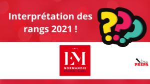 Interpréter son rang d'admission 2021 EM Normandie