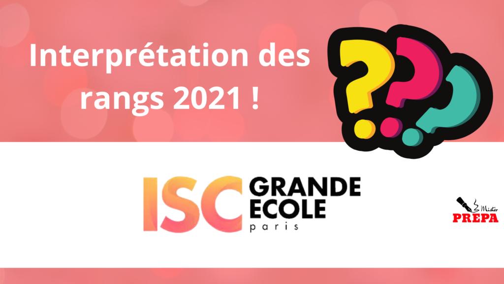 Interpréter son rang à ISC Paris
