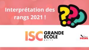 Comment interpréter son rang 2021 à l'ISC Paris ?