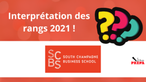 Comment interpréter son rang d'admission 2021 à SCBS ?