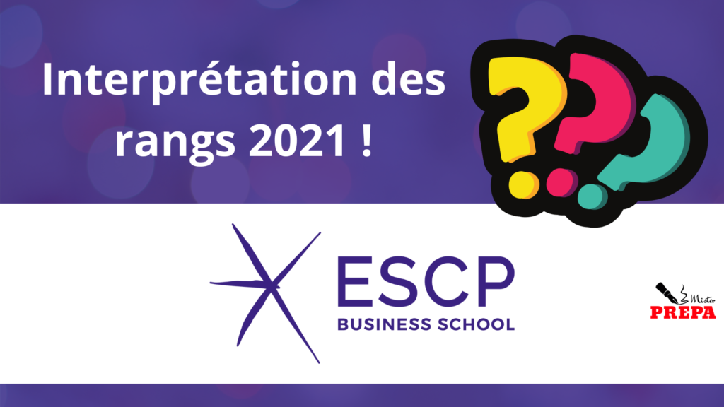 Comment interpréter son rang d'admission 2021 à l'ESCP BS ?