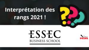 Comment interpréter son rang 2021 à l'ESSEC BS ?