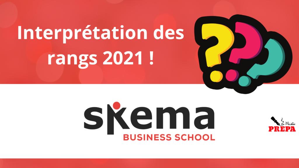 Comment interpréter son rang 2021 à SKEMA BS ?